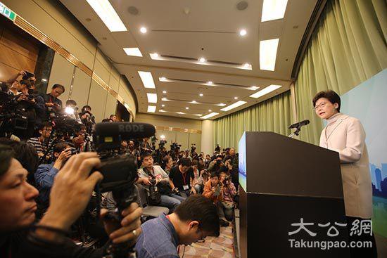 林郑宣布参选特首 愿与民同行再创高峰2.jpg