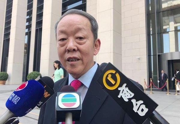 王光亞昨向傳媒指出,特區政府新班子平穩,對香港有心。.jpg