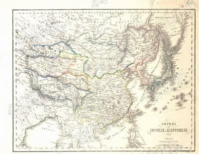 意大利华人捐古版中国地图 证明钓鱼岛为中领土.jpg