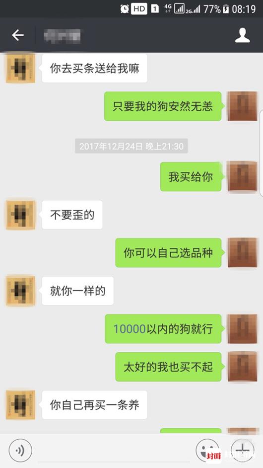 """""""疑索酬不成摔死小狗"""" 成都女子向狗主人大哭道歉10.png"""