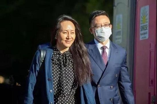 孟晚舟获加拿大法院释放回国2.jpg