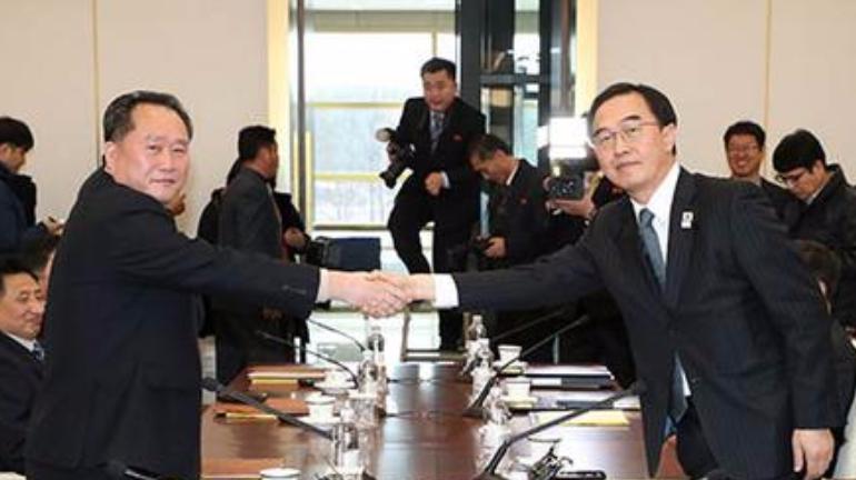 韩朝会谈就11项事宜达共识 半岛旗将飘扬冬奥开幕式